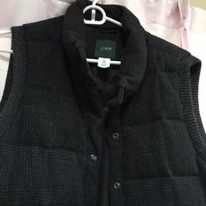 J.Crew Wool Vest with Pockets and snaps
